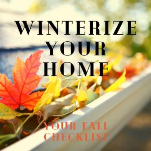 Winterize your home checklist